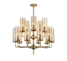 Люстра Glass Tube Chandelier Amber 15